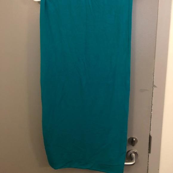 Royal Blue/Green Midi bodycon skirt.